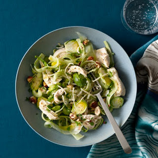 Chicken Breast With Shaved Brussels Sprouts