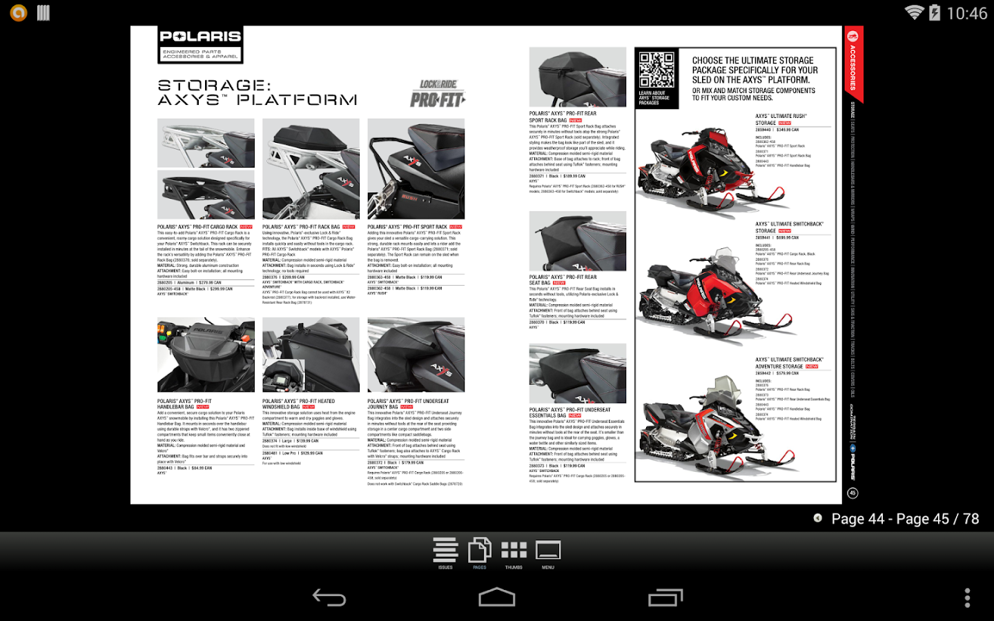 Polaris Snow Catalogs CAN - screenshot