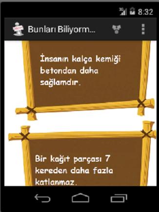 BUNLARI BİLİYOR MUYDUNUZ