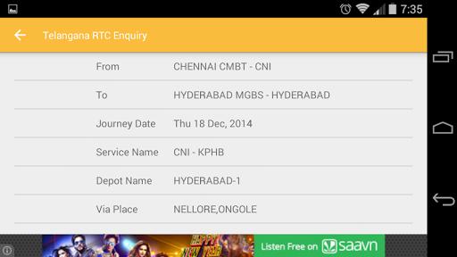 【免費交通運輸App】Telangana RTC Enquiry-APP點子