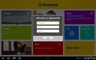 Screenshot of Maybank2E (HD)