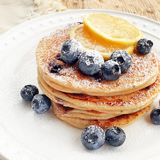 Lemon-Blueberry Ricotta Pancakes