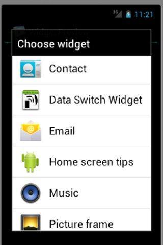 Data Widget Donate