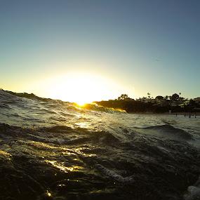 by Erich Schmidt - Landscapes Beaches ( water, laguna beach, waves, sunset, beach )