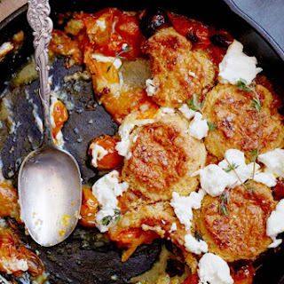 Tomato and Goat Cheese Cobbler.