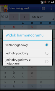 Harmonogram pracy- screenshot thumbnail