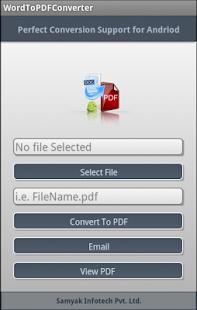 Doc to PDF Converter - screenshot thumbnail