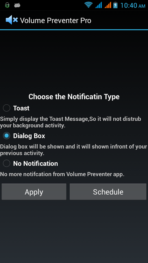 Volume Preventer or Locker - screenshot