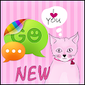Pink Kitties Theme for GO SMS icon