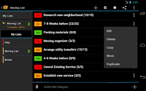 Moving Planner- screenshot thumbnail
