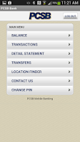 Screenshot of PCSB Bank Application