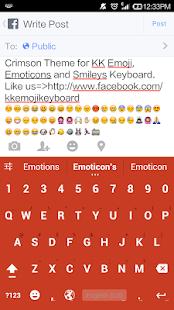 Crimson Theme - Emoji Keyboard