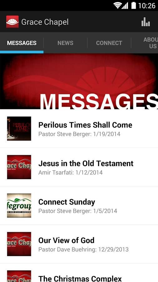 Grace Chapel App - screenshot