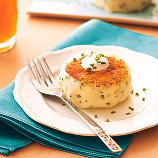 Sour Cream-Chive Potato Cakes