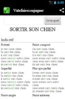 Screenshot of Conjugation Vatefaireconjuguer