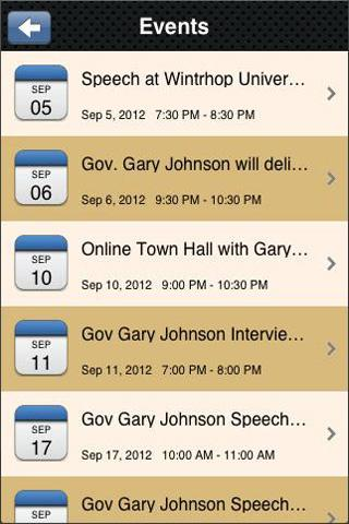 Gary Johnson 2012 - screenshot