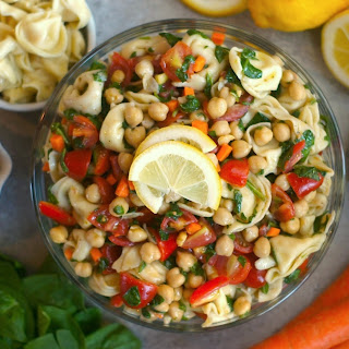Tortellini-Chickpea Pasta Salad.