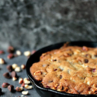 Chocolate and Hazelnut Skillet Cookie Recipe