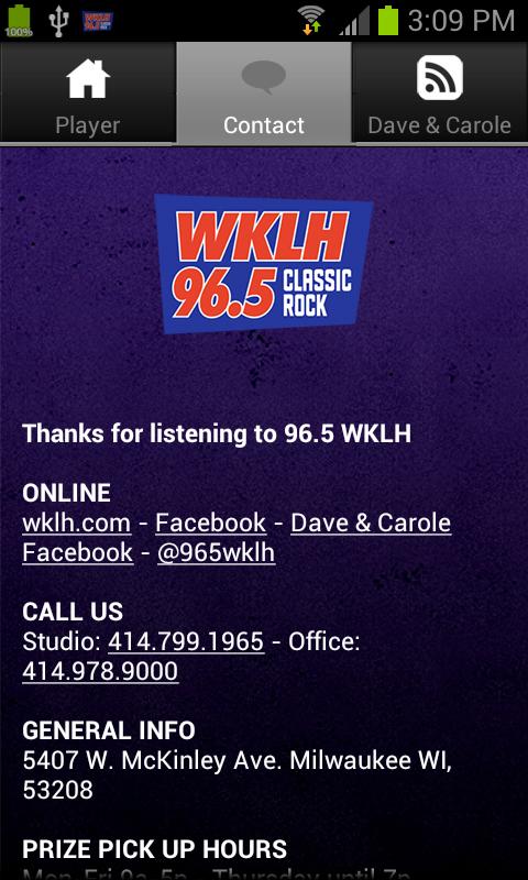96.5 WKLH - screenshot