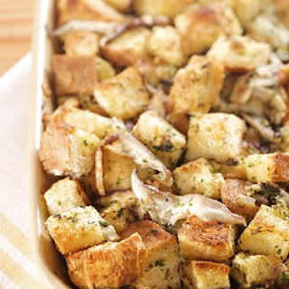 Brown Butter, Sage, and Mushroom Stuffing.