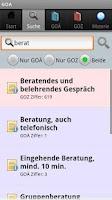 Screenshot of GOÄ GOZ
