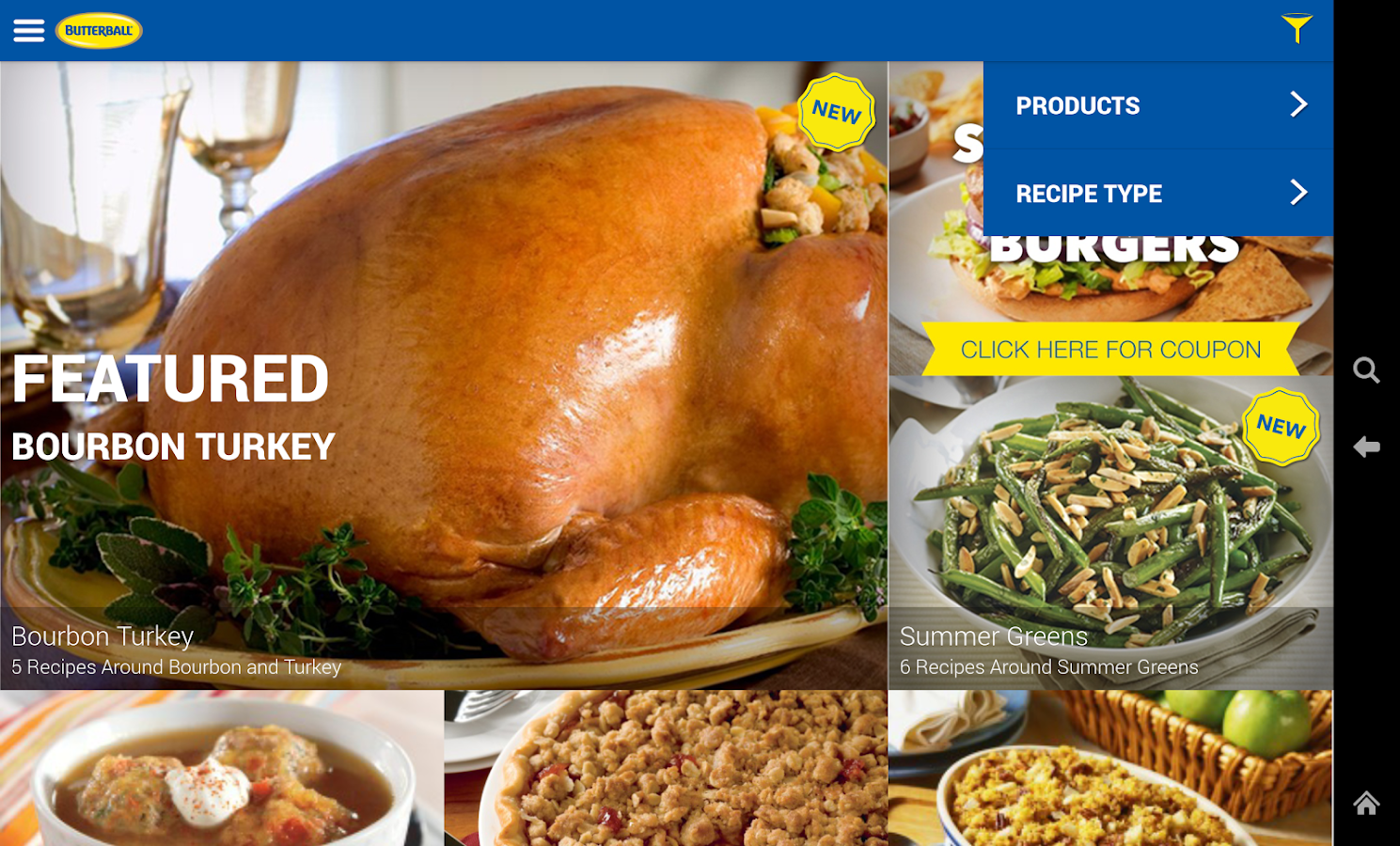 Butterball Cookbook Plus- screenshot