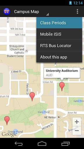 University of Florida UF Map