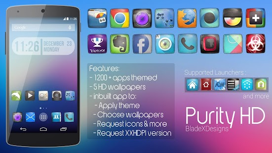 Purity(APEX NOVA KITKAT THEME) v1.0.1 Apk zippy share