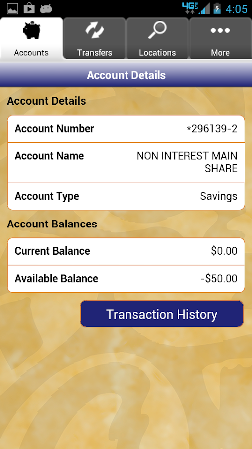 Hughes FCU Mobile Banking - screenshot