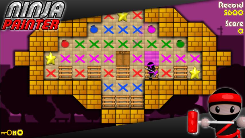 Ninja Painter Puzzle - Free- screenshot