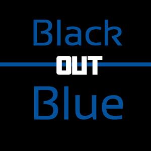 Black and Blue Keyboard Skin