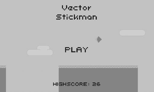 Vector Stickman Parkour Hero