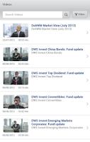 Screenshot of Deutsche AWM Active: Funds