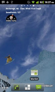 Snowboarders Live Wallpaper screenshot