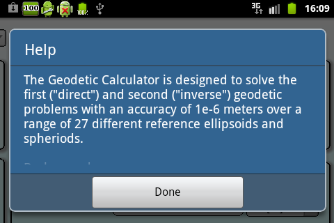 Geodetics Calculator - screenshot