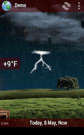 Animated Weather Widget&Clock Screenshot 8