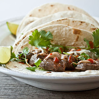 Peanut Butter Steak Tacos (with sriracha!)