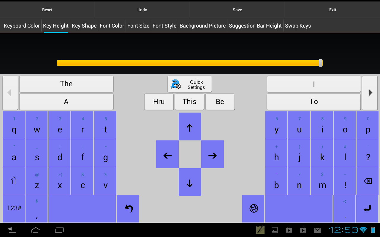Adaptxt Tablet Keyboard - Free- screenshot