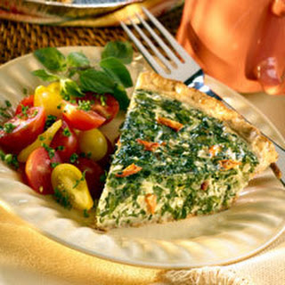 Spring Vegetable Quiche.