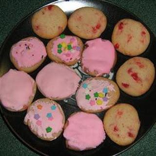 Maraschino Cherry Almond Cookies