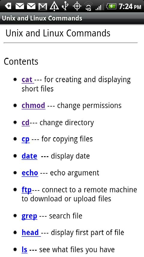 Unix & Linux Commands - screenshot