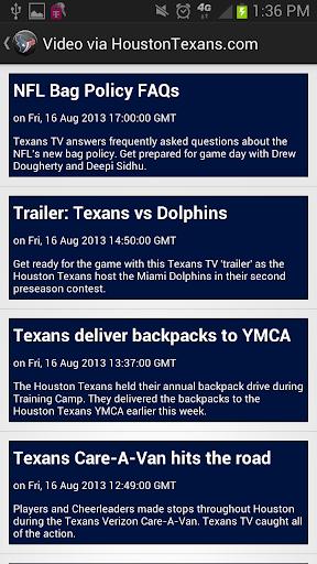 Houston Texans News App  screenshots 2