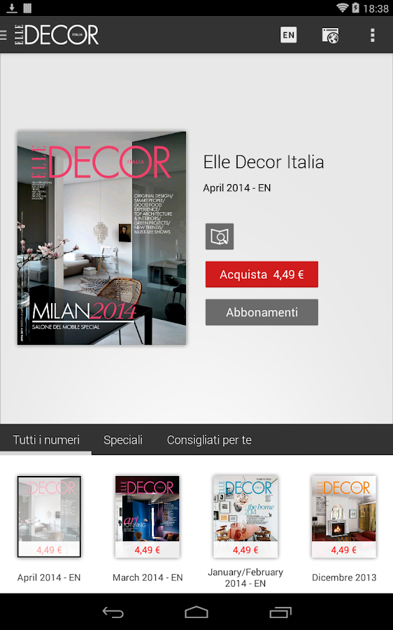 Elle decor italia android apps on google play for Hearst magazines italia stage