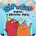 Sip'n'Cup Throw a Bday Party logo