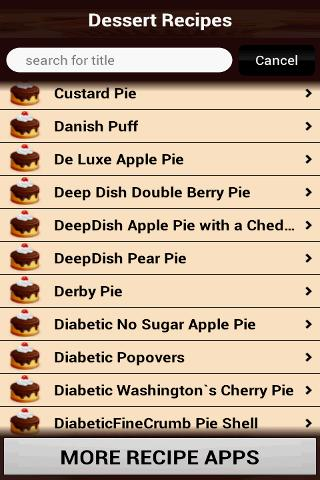 Dessert Recipes Cookbook- screenshot