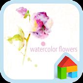 watercolor flower 도돌런처 테마