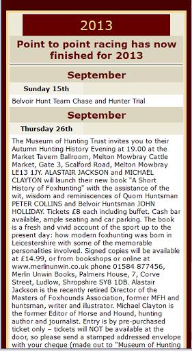 Melton Hunt Club