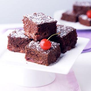 Chocolate Cherry Cake Squares