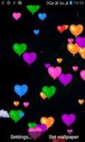 Screenshot of Heart Balloons Live Wallpaper