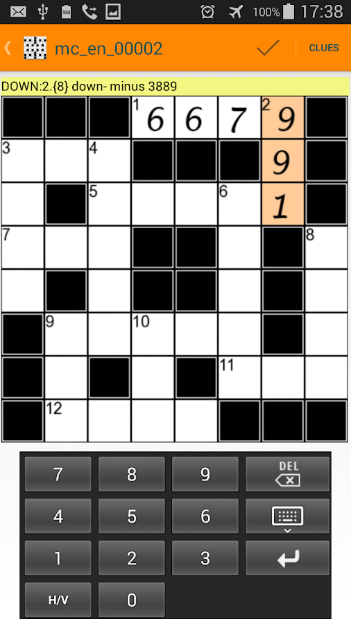 Math Crosswords Puzzles- screenshot